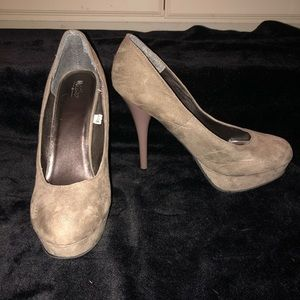 Taupe / Neutral Platform Heels Pumps 👠